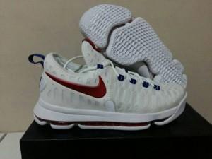 Sepatu Basket KD 9 White Red