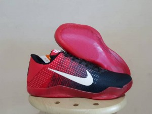 Sepatu Basket Kobe 11 Mesh Black Red White