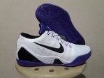 Sepatu Basket Kobe 9 Elite Low White Purple