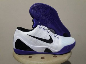 Sepatu Basket Kobe 9 Elite Low White Purple