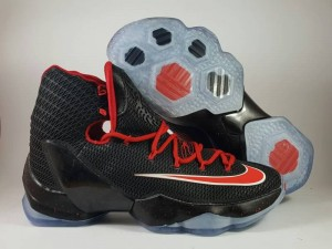 Sepatu Basket Lebron 13 Elite Black Red