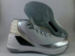 Curry 3 White Silver