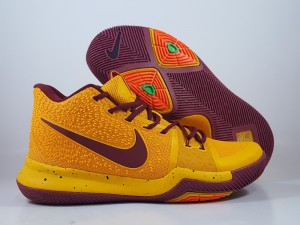 Kyrie 3 Yellow Dark Red