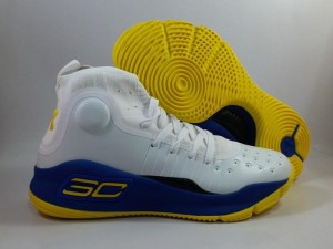 Sepatu Basket Curry 4 White Blue