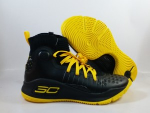Sepatu Basket Curry 4 Black Yellow