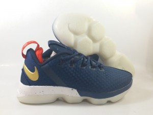 Lebron 14 Low Navy Blue Yellow