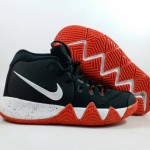 Kyrie 4 Black White Red