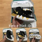 Kyrie 4 Black White Gold