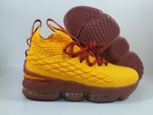 Lebron 15 Yellow Burgundy
