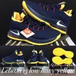 Lebron 15 Low Navy Yellow