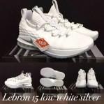 Lebron 15 Low White Silver